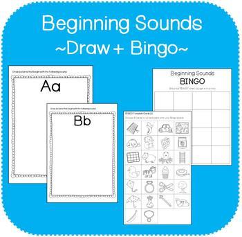 Beginning Sounds Workbook (Draw + Bingo)