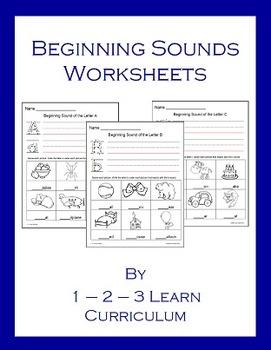 Beginning Sounds Worksheets
