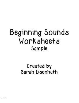 Beginning Sounds Worksheets FREEBIE sample