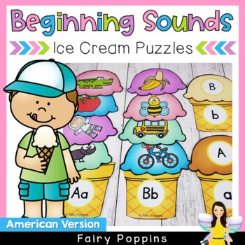 Beginning Sounds and Letters Ice-Cream Match
