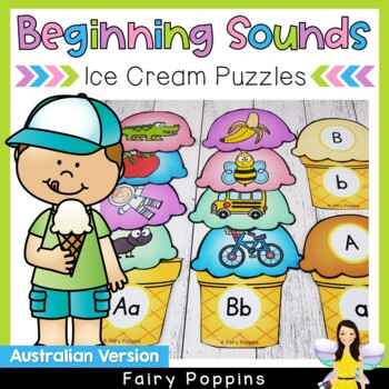 Beginning Sounds and Letters Match - Australian School Fonts