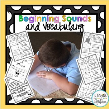 Phonics: Word Work:Beginning Sounds and Vocabulary Pages f