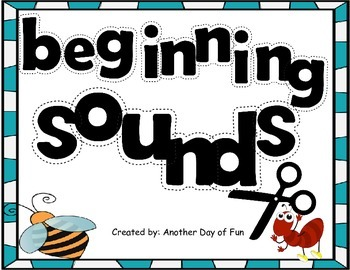 Beginning Sounds -matches the letter order from Kindergart