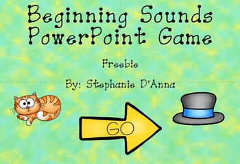 Beginning Sounds with Short A Words Interactive PowerPoint Game