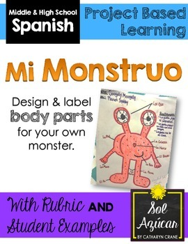 Spanish Monster Project - Mi Monstruo - Body Parts Unit
