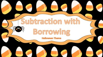 Beginning Subtraction with Borrowing Task Cards {{Hallowee