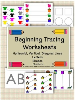 Beginning Tracing Worksheets for Kids with Autism