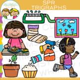Beginning Trigraphs Clip Art: SPR Words