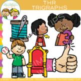 Beginning Trigraphs Clip Art: THR Words