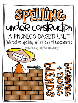 Beginning and Ending Blends Word Work: Spelling Under Cons