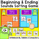 Beginning and Ending Sounds Sorting Game for Whiteboards a