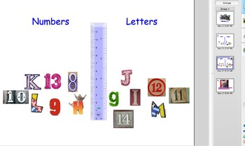Beginning level letter and number sort a-m & 1-14