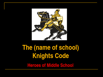 Beginning of School - Classroom Behavior - The Knights Code