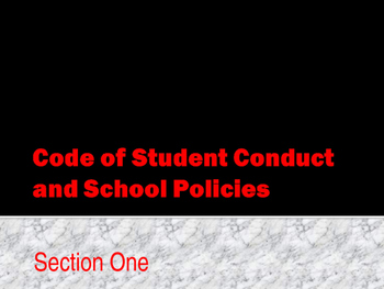 Code of Conduct - Coduct of Conduct & Behavior Policies
