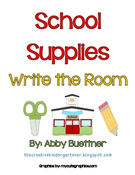 Beginning of School Write the Room