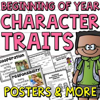 Beginning of the Year: Character Traits Bundle