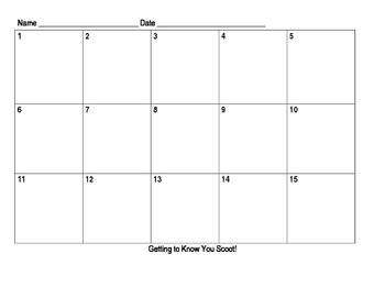 Beginning of Year Getting to Know You Editable Template!