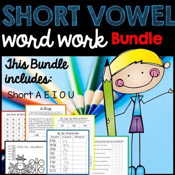 Short Vowel Activities- Short A, Short E, Short I, Short O