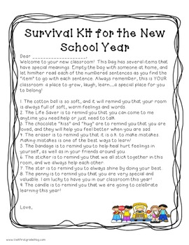 Beginning of Year Survival Kit