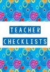 Beginning of school year checklists