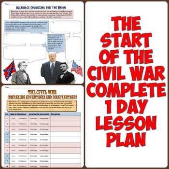 Beginning of the Civil War Complete 1 Day Lesson
