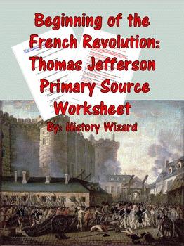 Beginning of the French Revolution: Thomas Jefferson Prima