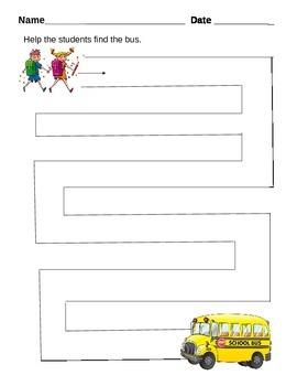 Beginning of the School Year Maze