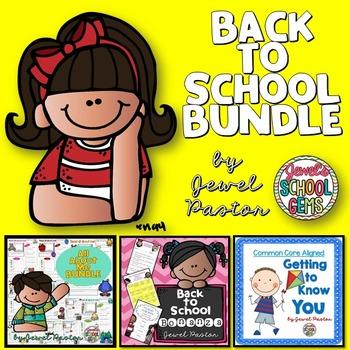 First Week of School Activities BUNDLE (Games, Worksheets