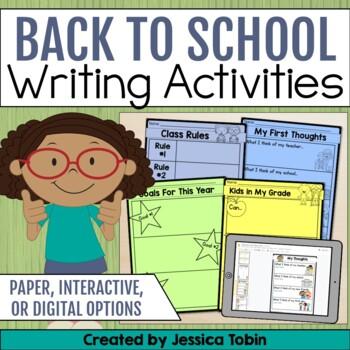 Back to School Activities- Interactive Activities