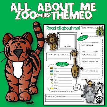 All About Me Zoo Theme