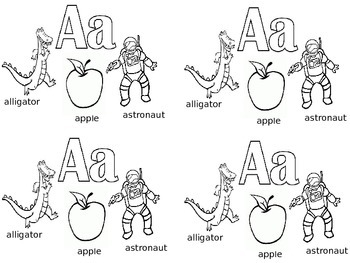 Beginning of the Year ABC Coloring Sheet Introduction / Re