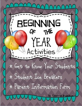 Beginning of the Year Ice Breakers and Activities