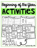 Beginning of the Year Activities - Includes Mini Book