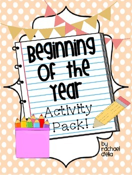 Beginning of the Year Activity Pack!