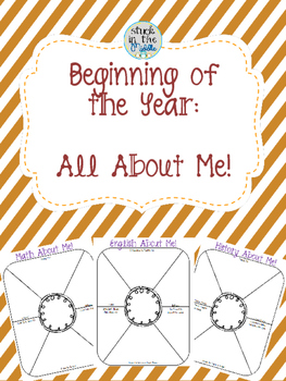 Beginning of the Year: All About Me