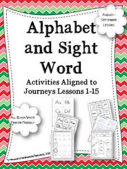 Beginning of  the Year Alphabet and Sight Word Activities