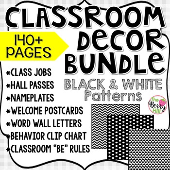 Beginning of the Year Big Bundle - Classroom Decor - Black