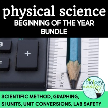 Beginning of the Year Bundle for Physical Science