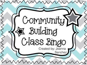 Beginning of the Year Class Bingo