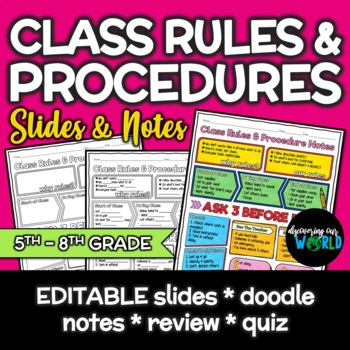 Beginning of the Year Classroom Rules & Procedure Lesson