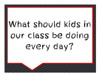 Beginning of the Year Conversation Starters- Black and Gra