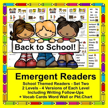 Beginning of the Year:  Back to School Readers + Illustrat