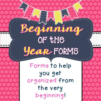 Beginning of the Year Forms FREEBIE