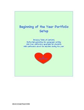 Beginning of the Year Portfolio Setup