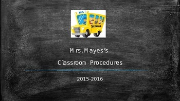 Beginning of the Year Procedures and Expectations Powerpoi