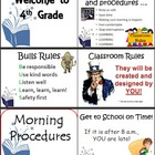 Beginning of Year Classroom Procedures Checklist on Power Point - EDITABLE