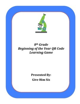 Beginning of the Year QR Code Game