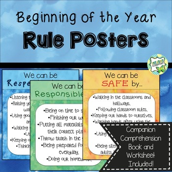 Beginning of the Year Rule Posters
