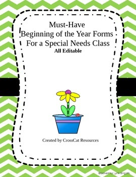 Beginning of the Year School Forms