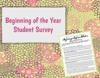 Beginning-of-the-Year Student Survey